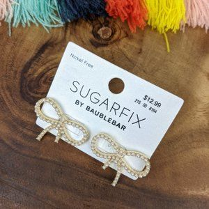 SUGARFIX by BaubleBar Pearl Bow Earrings
